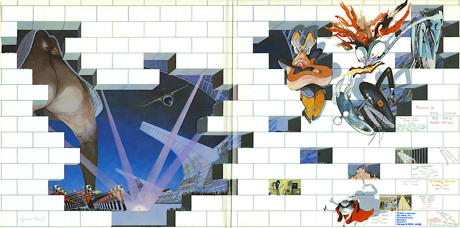 Pink Floyd The Wall Art how gerald scarfe and pink floyd built 'the wall' - illustration