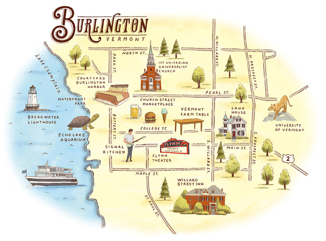 Burlington VT Wwwryanorourkecom - Burlington map
